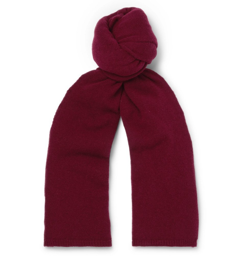 Photo: Officine Generale - Merino Wool Scarf - Men - Burgundy