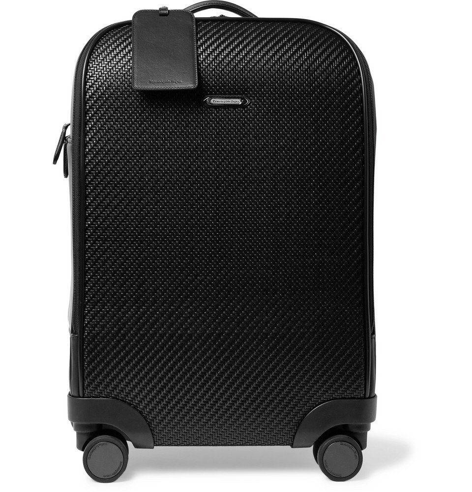 Photo: Ermenegildo Zegna - Pelle Tessuta Leather Carry-On Suitcase - Men - Black
