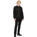 1017 ALYX 9SM Black Blackmeans Edition Denim Shredded Jacket