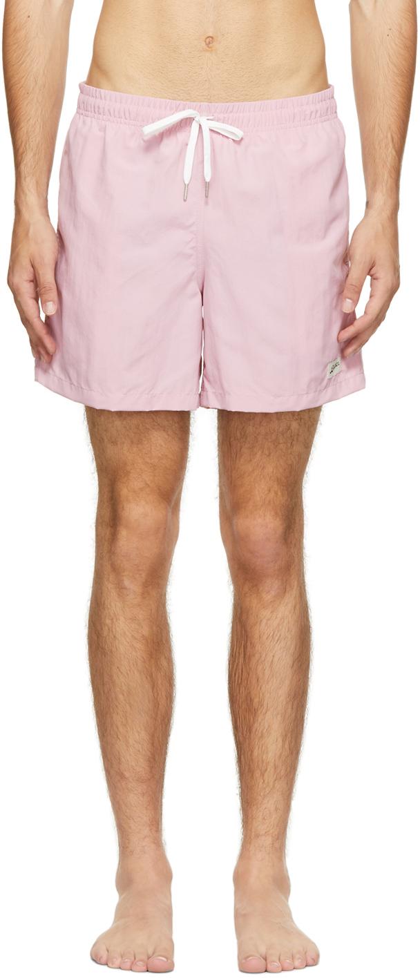 Photo: Bather Pink Solid Swim Shorts