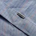 Hanro - Striped Mercerised Cotton-Chambray Pyjama Set - Blue