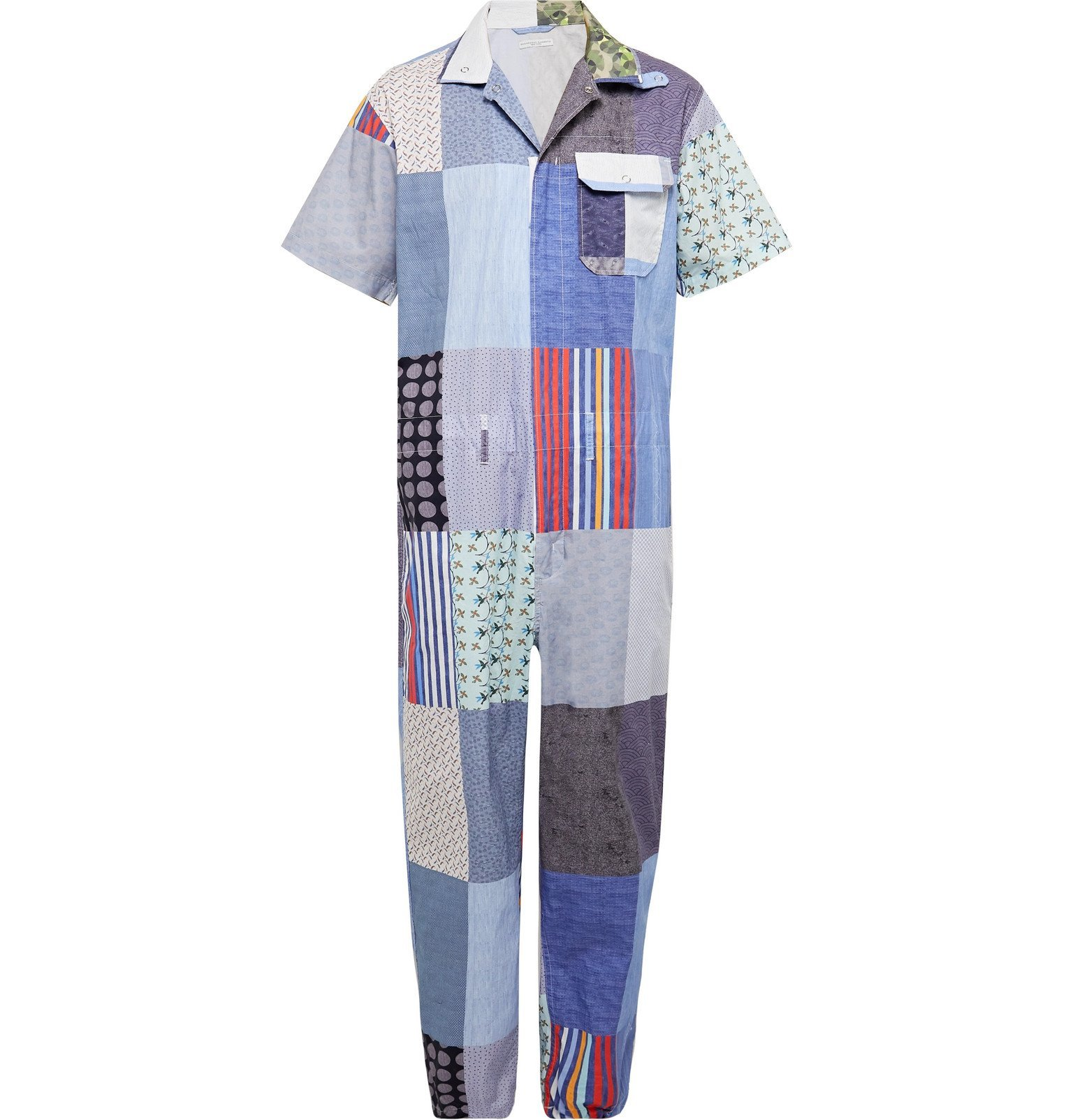 Photo: Engineered Garments - Patchwork Cotton Jumpsuit - Blue