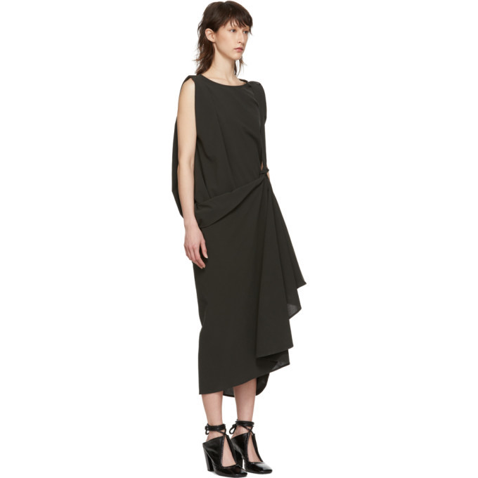 Lemaire Green Asymmetrical Dress
