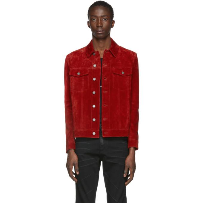 Photo: Saint Laurent Red Suede Classic Jacket