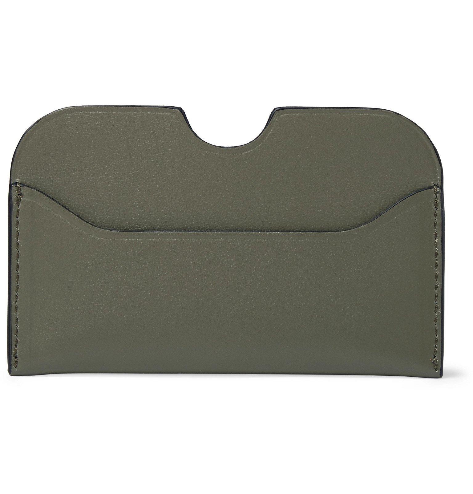 Acne Studios - Elma S Logo-Print Leather Cardholder - Green