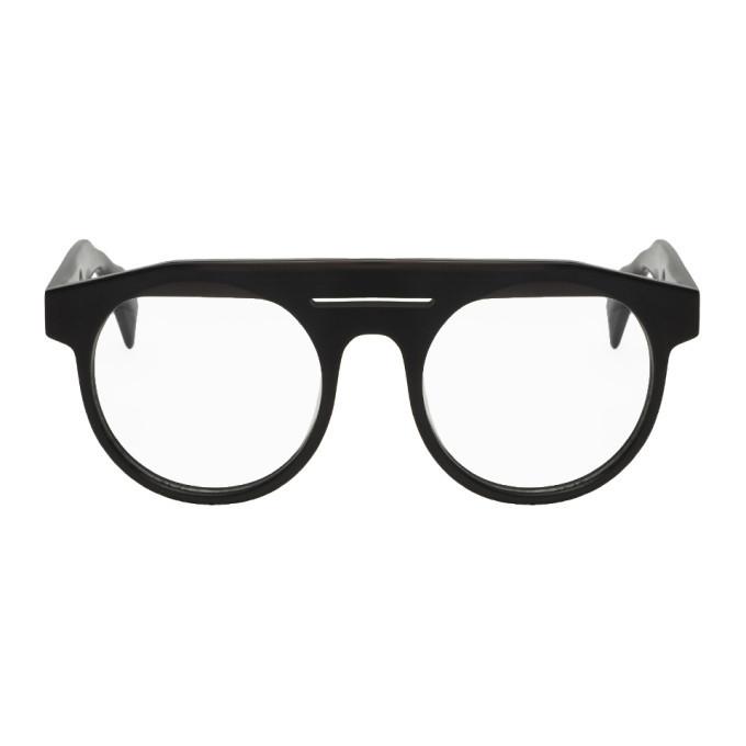 Photo: Yohji Yamamoto Black Round Brow Glasses