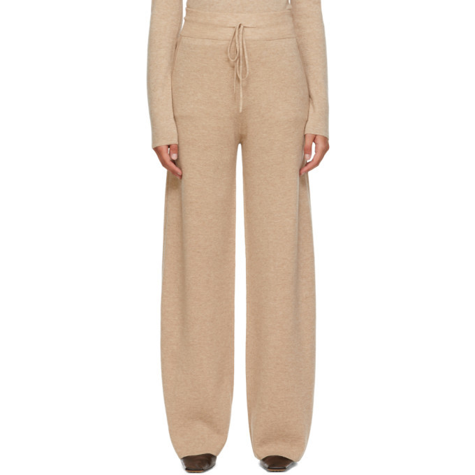 Max Mara Beige Wool and Cashmere Ode Lounge Pants