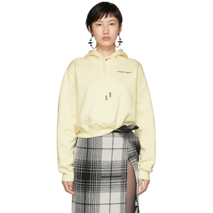 Photo: Off-White White Quotes Cropped Hoodie