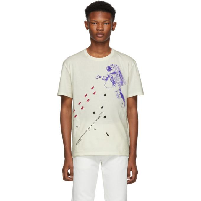 Raf Simons White Slim Fit Astronaut T-Shirt