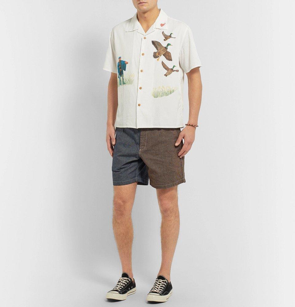 Human Made - Yokosuka Camp-Collar Printed Voile Shirt - White