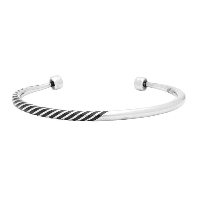 Photo: Saint Laurent Silver Tribal Half-Twisted Bracelet