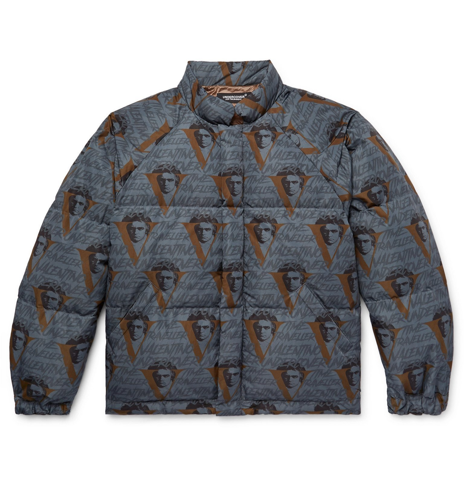 Photo: Undercover - Valentino Printed Quilted Shell Down Jacket - Blue