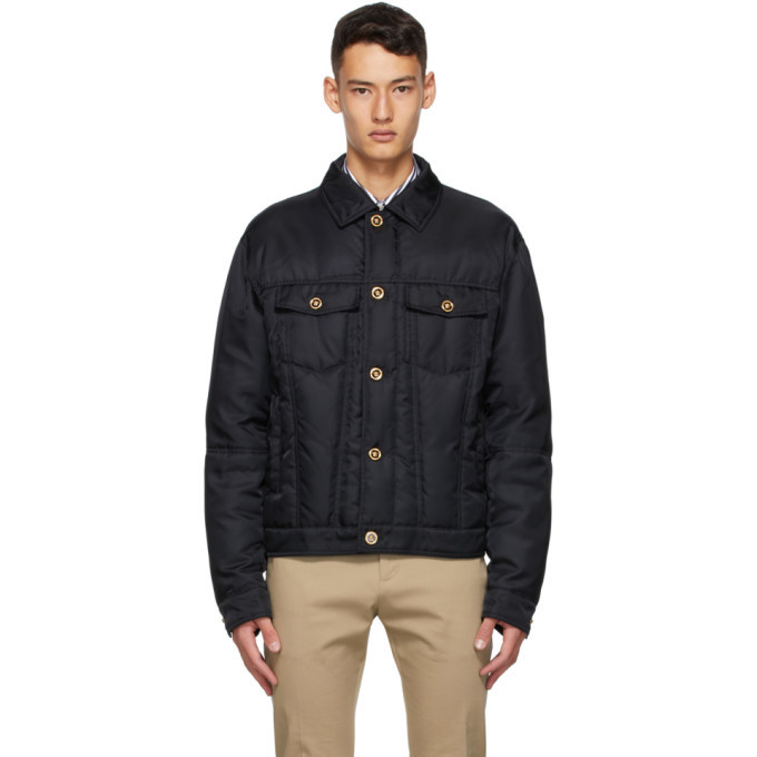 Versace Black Down Blouson Jacket