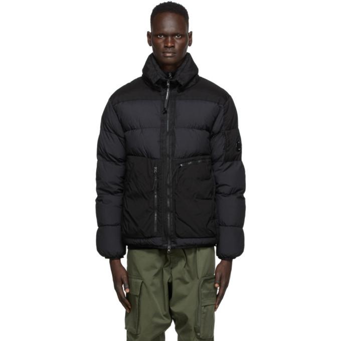 C.P. Company Black Down Nylon Jacket