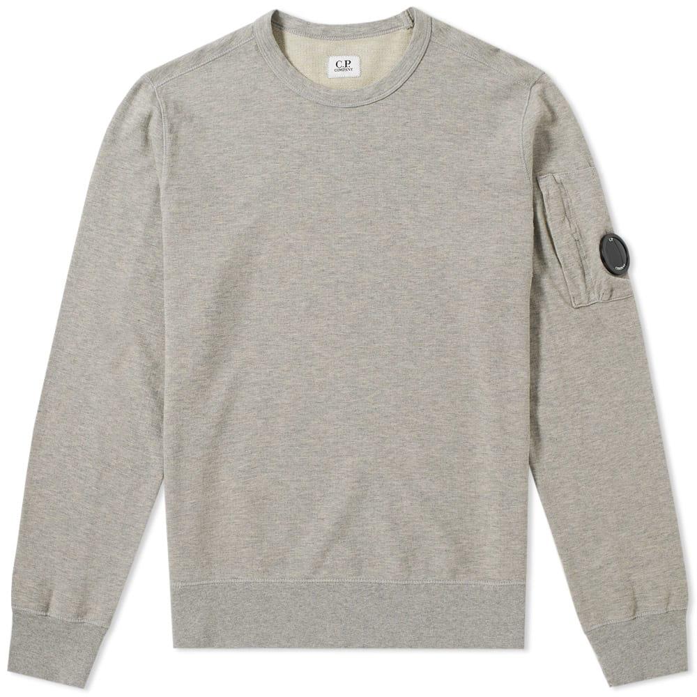 C.P. Company Garment Dyed Light Fleece Arm Lens Sweat