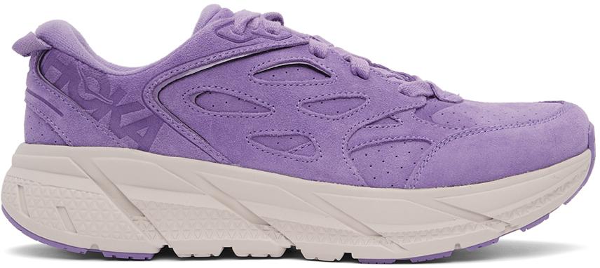 Photo: Hoka One One Purple Clifton L Sneakers