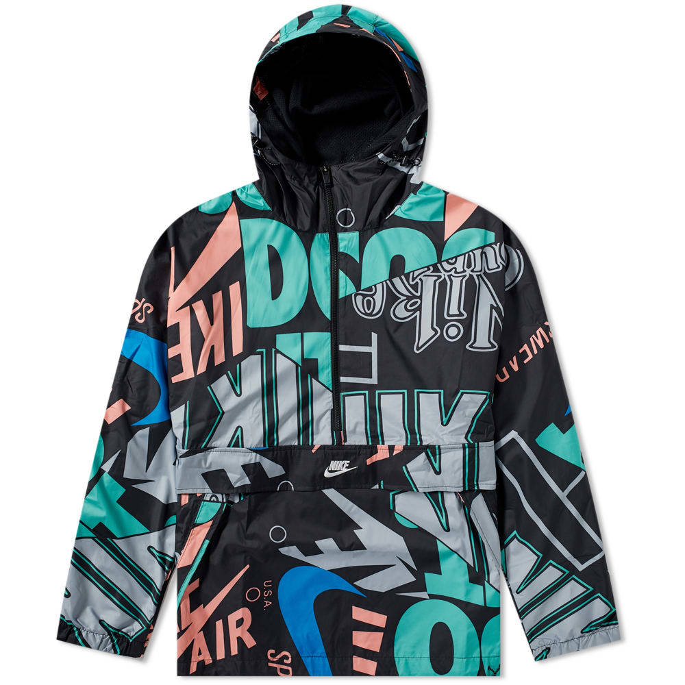 Photo: Nike 'Just Do It' All Over Print Hooded Jacket Black