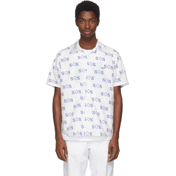 Photo: Noah NYC White Short Sleeve SOS Shirt