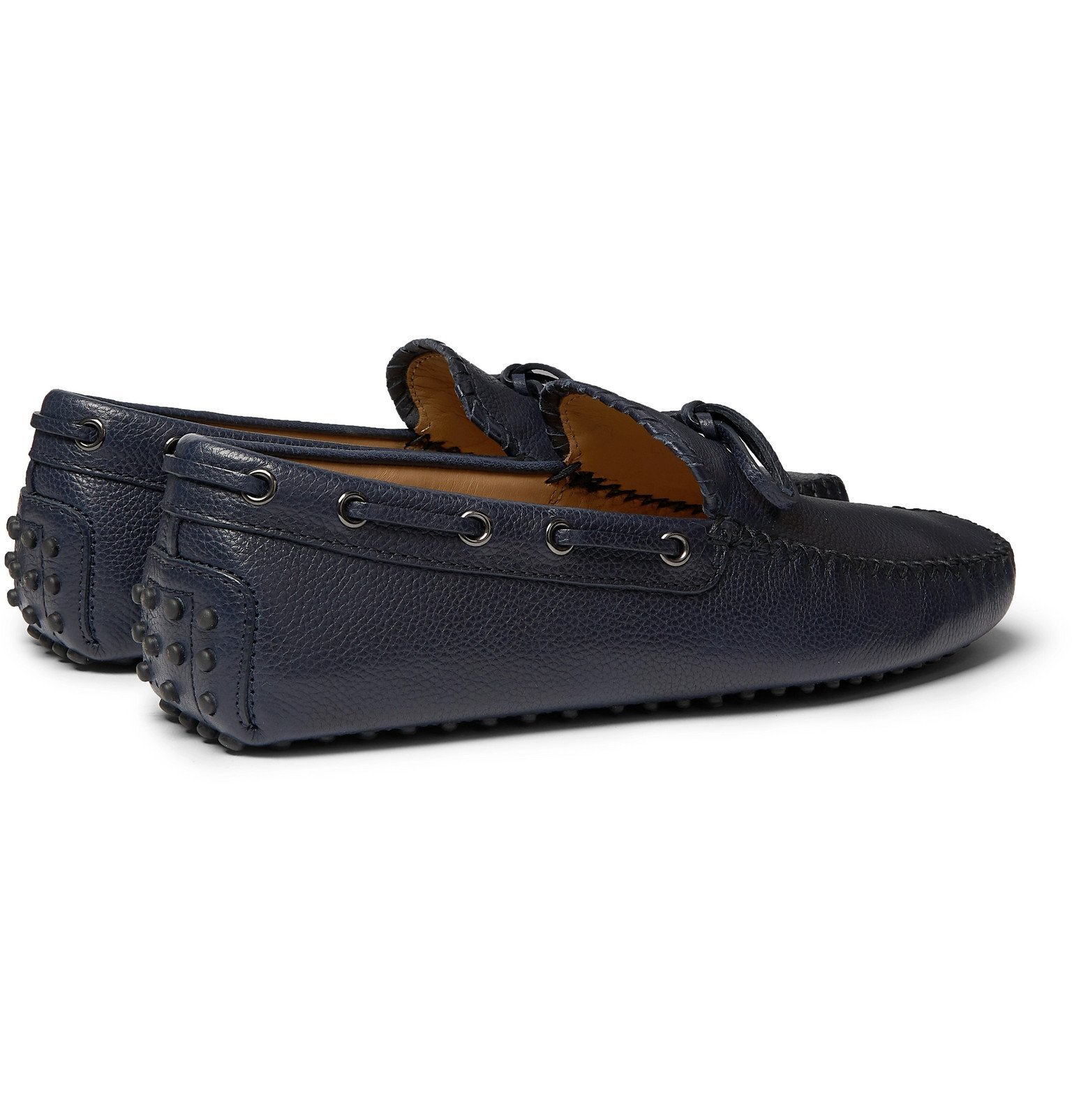 Tod's - Gommino Full-Grain Leather Driving Shoes - Blue