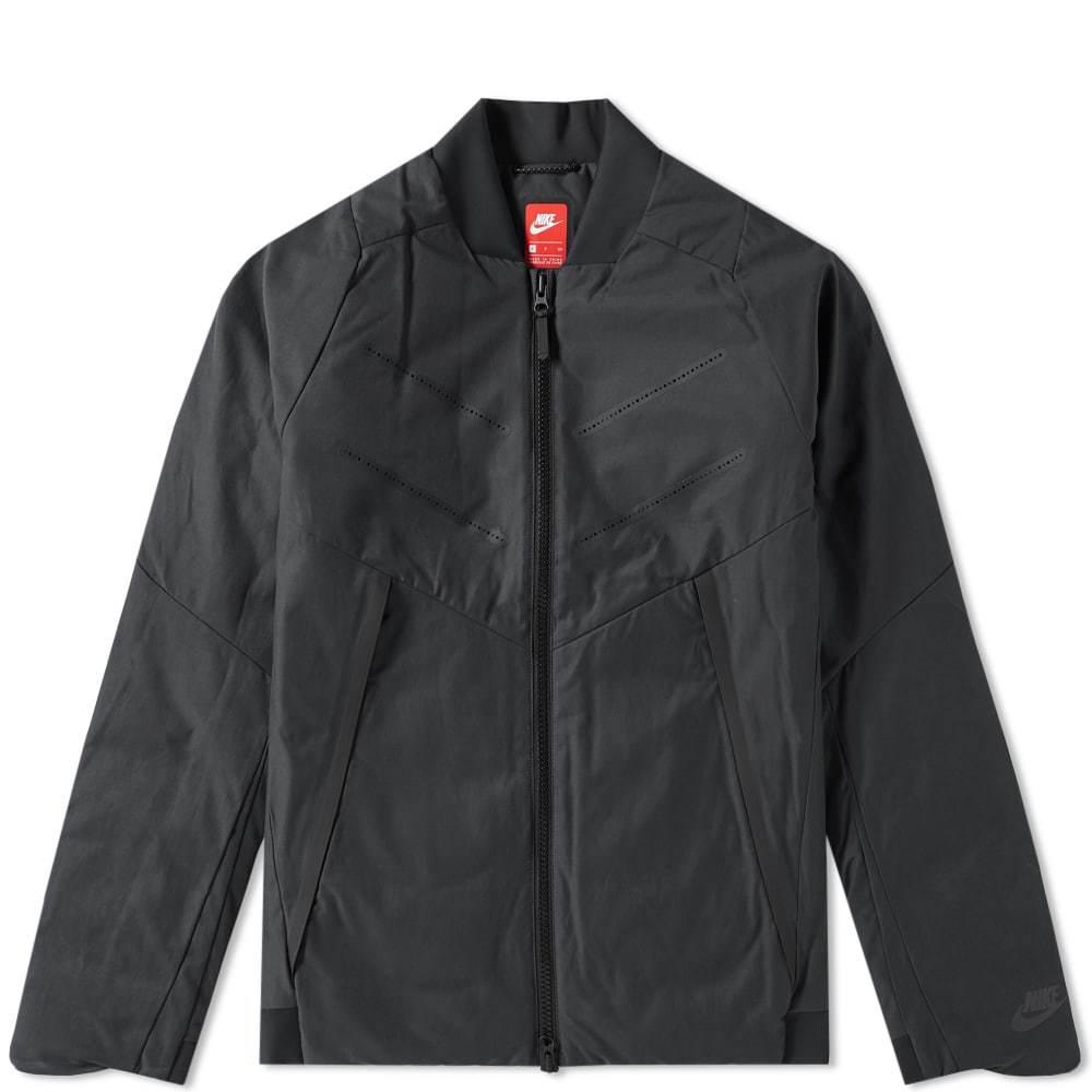 cómodo Comportamiento mínimo  Nike Tech Fleece Aeroloft Bomber Black Nike