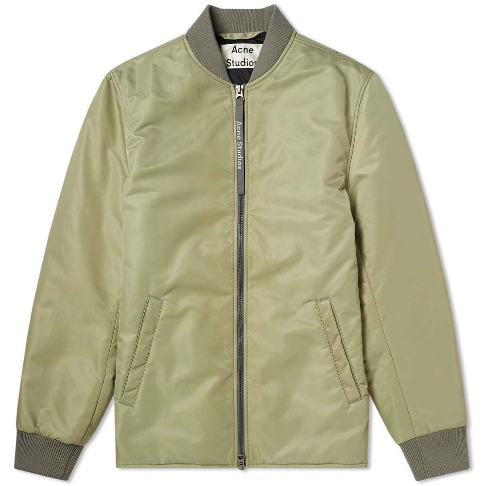 Acne Studios Nylon Bomber Jacket Stone Grey