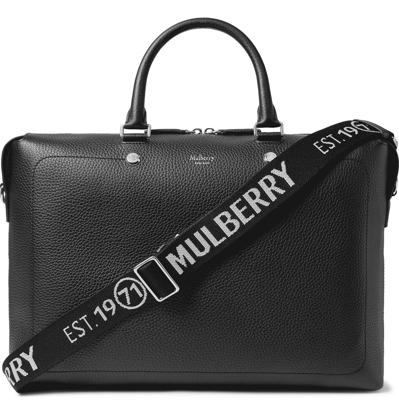 Photo: MULBERRY - City Full-Grain Leather Briefcase - Black