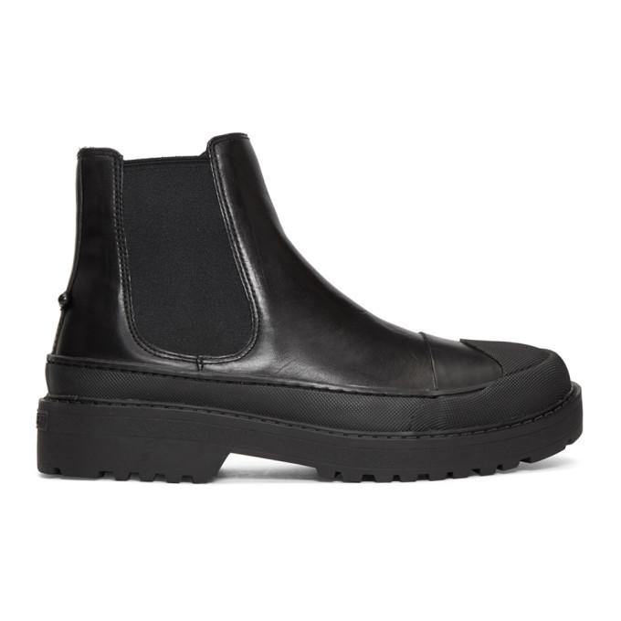 Photo: Neil Barrett Black Tark Military Chelsea Boots