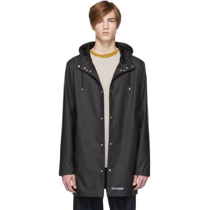 Photo: Stutterheim Black Stockholm Lightweight Raincoat