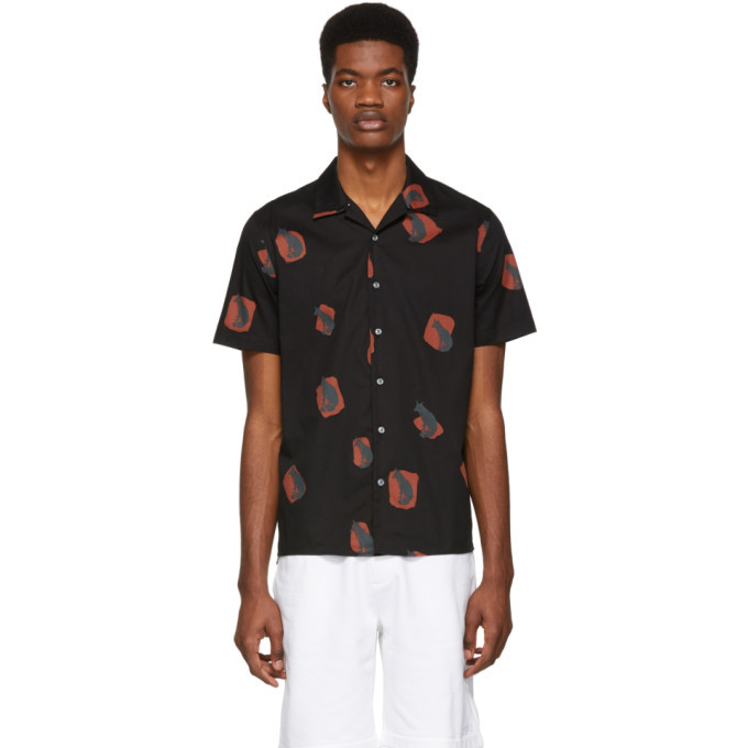 Photo: PS by Paul Smith Black and Red Fox Casual Shirt