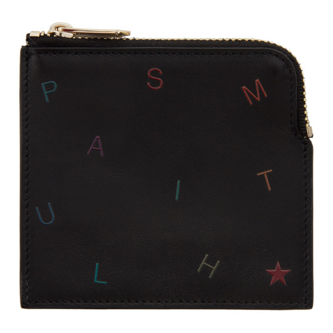 Photo: Paul Smith Black Letters Zip Card Holder
