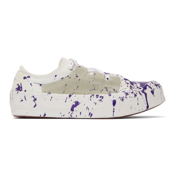 Photo: Needles Purple and White Paint Asymmetric Ghillie Sneakers