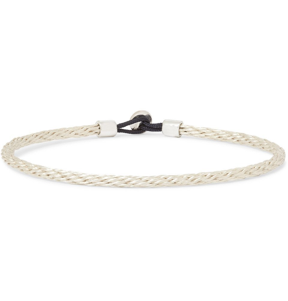 Photo: Miansai - Nexus Sterling Silver and Cord Bracelet - Silver