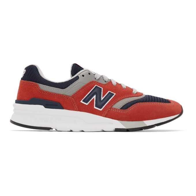 Photo: New Balance Red and Navy 997H Sneakers