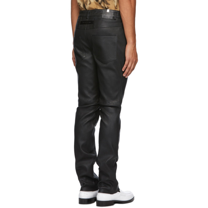1017 ALYX 9SM Black Leather O-Ring Pants
