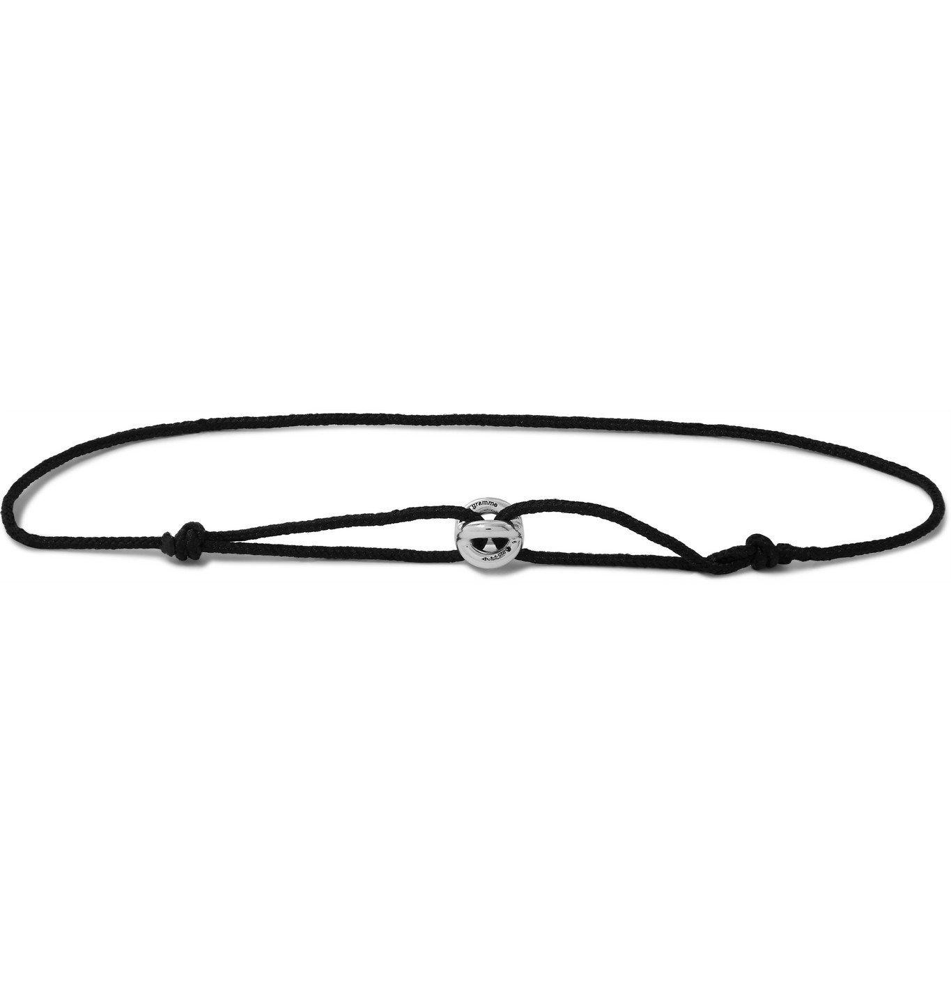 Photo: Le Gramme - Sterling Silver Cord Bracelet - Black