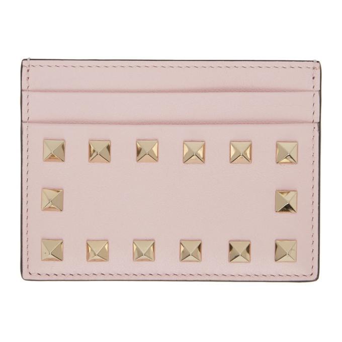 Photo: Valentino Pink Valentino Garavani Rockstud Card Holder