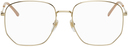 Gucci Gold Rounded Square Glasses