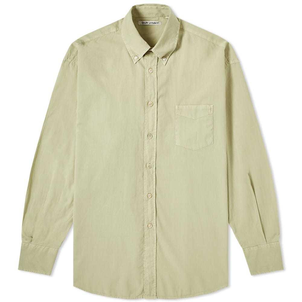 Photo: Our Legacy Borrowed Button Down Shirt Pistachio