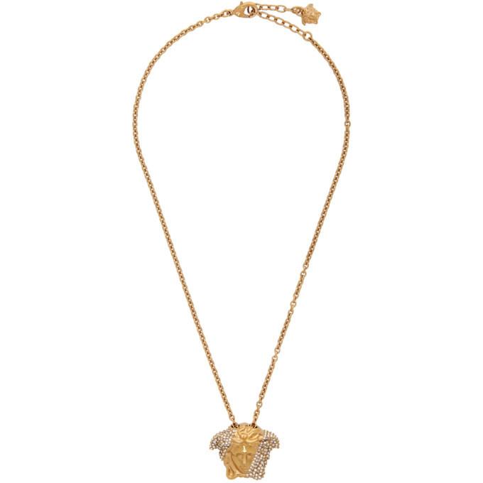 Photo: Versace Gold Palazzo Dia Necklace