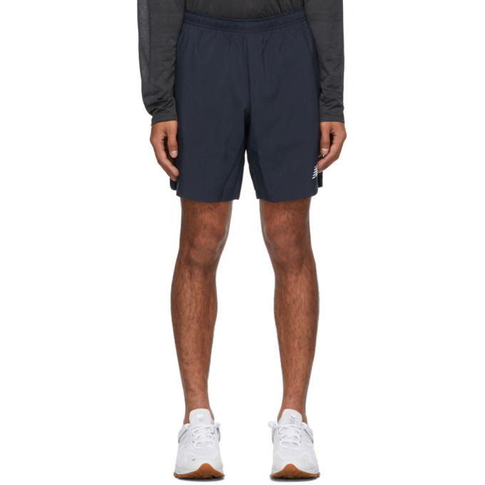 Photo: New Balance Navy Velocity Shorts