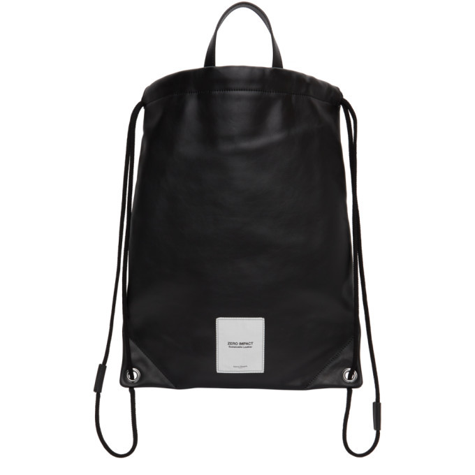 Photo: Maison Margiela Black Zero Impact Drawstring Backpack