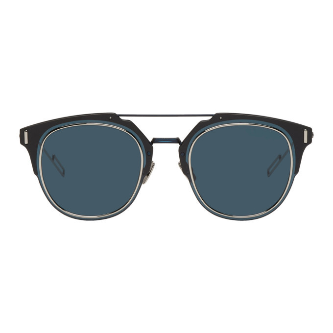 Photo: Dior Homme Navy Dior Composit 1.0 Sunglasses