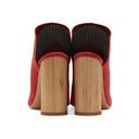 3.1 Phillip Lim Red Suede Drum Slingback Heels