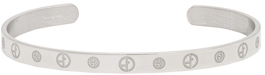 Photo: Giorgio Armani Silver Bangle Bracelet