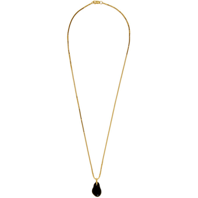 Photo: Bottega Veneta Gold and Black Onyx Pendant Necklace