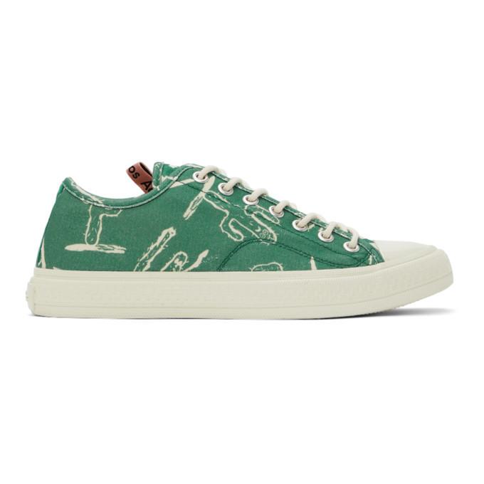 Photo: Acne Studios Green Canvas Cactus Sneakers