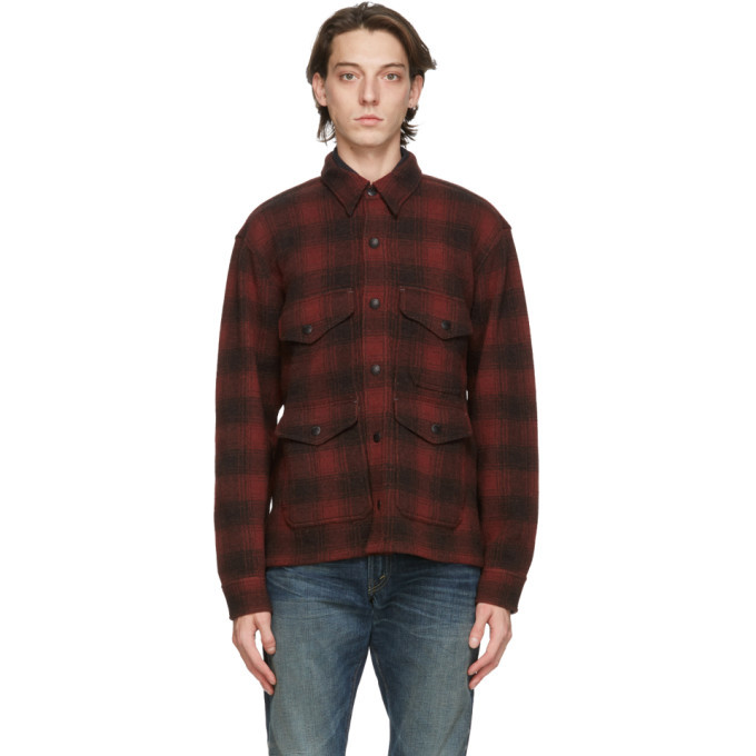 RRL Red and Brown Wool Check Shirt