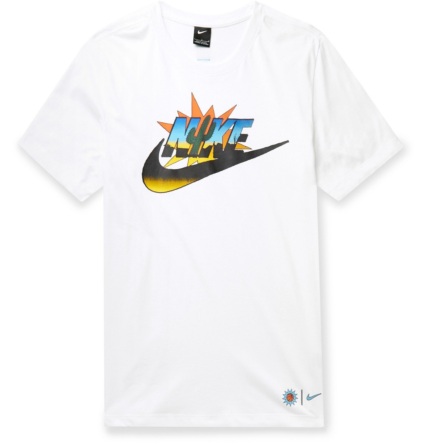 Photo: Nike - Printed Cotton-Jersey T-Shirt - White