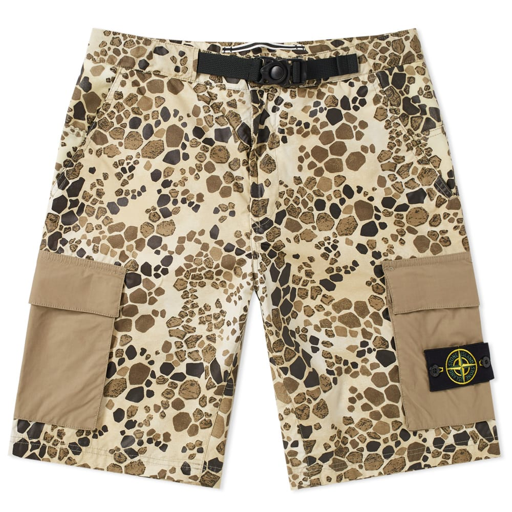Photo: Stone Island Alligator Camo Light Cotton Nylon Rep Cargo Short