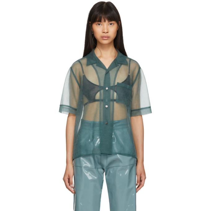GmbH Green See-Through Shirt